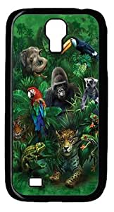 Jungle Friends Animal 2 Custom Samsung Galaxy I9500/Samsung Galaxy S4 Case Cover Polycarbonate Black
