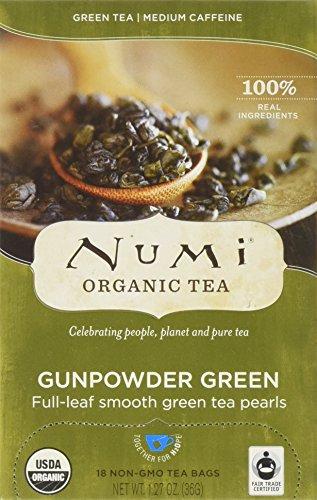 Green Numi - Numi Organic Tea Gunpowder Green Temple Heaven Green Tea - 18 Count (pack Of 6)