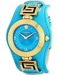 Women's VLA080014 V-SIGNATURE Analog Display Swiss Quartz Turqoise Watch