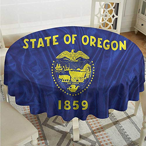 Tim1Beve American Spill-Proof Table Cover Oregon State Flag Union for Events Party Restaurant Dining Table Cover D50 -
