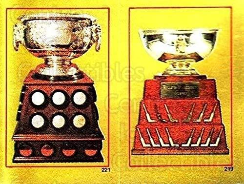 (CI) Jennings Trophy, Art Ross Trophy Hockey Card 1984-85 O-Pee-Chee Stickers 219-221 Jennings Trophy, Art Ross Trophy