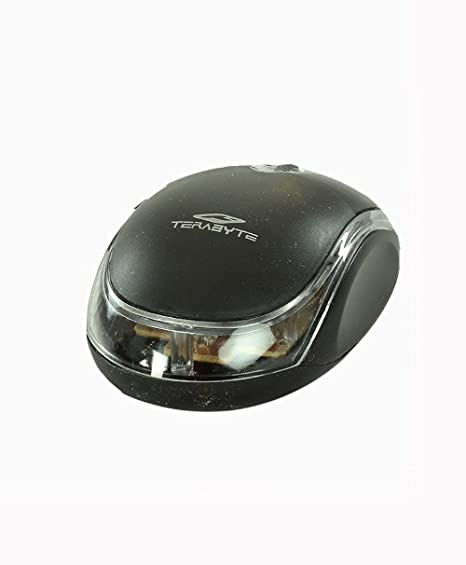 Terabyte 3D Optical Wired USB Mouse in Black Mice