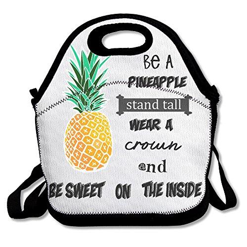 Futonghuaxia essere un ananas casual Outdoor lunch bag lunch box borsa termica per il pranzo della borsa per il pranzo, picnic per scuola lavoro ufficio, regalo per le donne