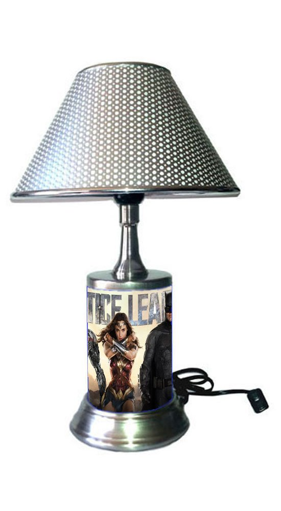 JS Justice League Lamp with chrome shade, movie