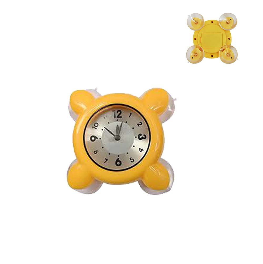 ixaer 4 Feet Bathroom Wall Clocks Cute Design Yellow Waterproof Shower Clock Small Alarm Clock Timer Water Resistant Suction Cup Clock Suitable for Most Smooth Wall Surface by ixaer