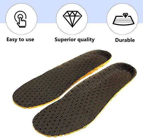 Absorption des Chocs Net Tissu Chaussure Pad Déodorant Sport Running Semelles Respirantes Pad Universal Insert Coussin pour Hommes Femmes - Noir et Jaune - 35-40