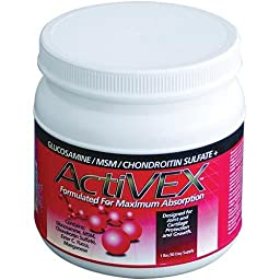 ActiVEX 1 lb Formulated For Maximum Absorption Horse Supplement with Glucosamine, MSM Powder, and Chondroitin Sulfate