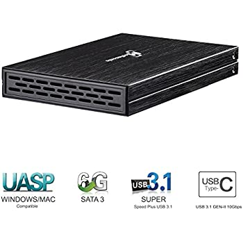 Amazon.com: Ineo USB 3.1 Gen 2 tipo C (10Gbps) Aluminio ...