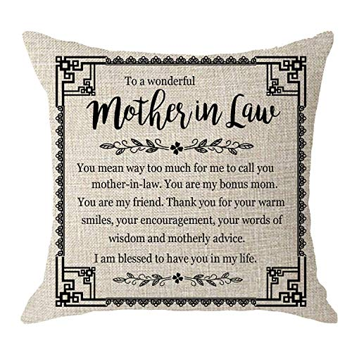 To a Wonderful Mother in Law Pillow with Poem