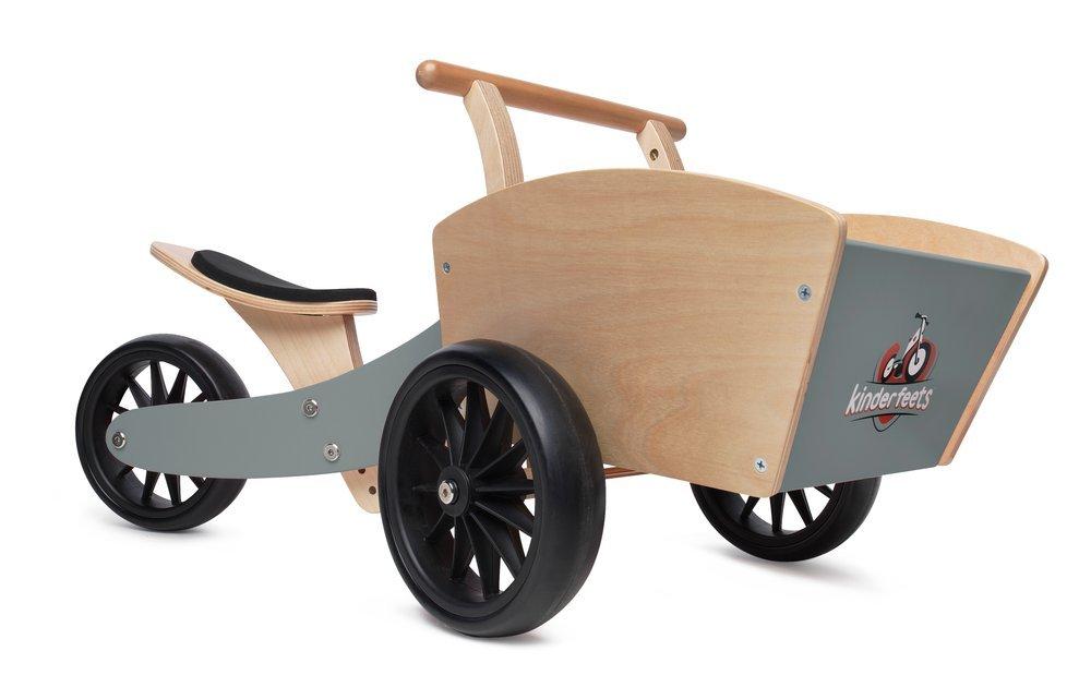 Kinderfeets Cargobike Kids Wooden Balance Bike (Gray)