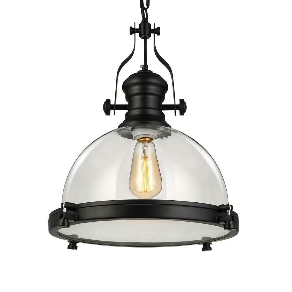 Industrial nautical transparent glass pendant light litfad 12 clear ceiling chandelier hanging light fixture max 40w amazon com