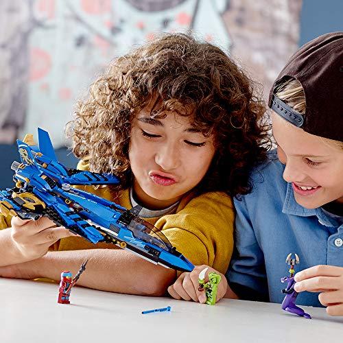 51iHrxI13SL - LEGO NINJAGO Legacy Jay's Storm Fighter 70668 Building Kit, New 2019 (490 Pieces)