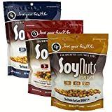 Love Your Health SoyNuts Healthy Snacks Variety Pack – Lightly Sea Salted, Honey Toasted & SoyMix Soy Nuts – Dry Roasted, Non-GMO Snacks – Soy Protein Snacks for Men & Women – 12 Ounces, Pack of 3 Review
