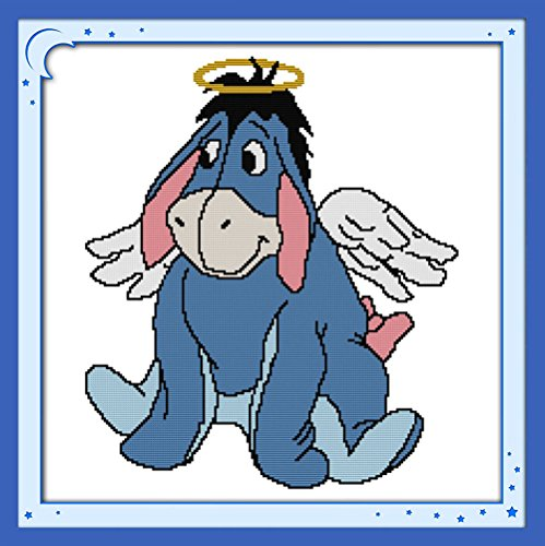(WHEEXLOCK Printed Cross Stitch The Little Donkey Eeyore 11 Count 22