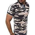 NISHISHOUZI Polo Homme,Polo Kaki Été Vêtements Hommes Manches Courtes en Coton Militaire Camouflage,Respirant Et… 7