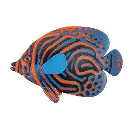 eDealMax silicona Inicio acuario flotante simulación realista de pescado decoración del ornamento