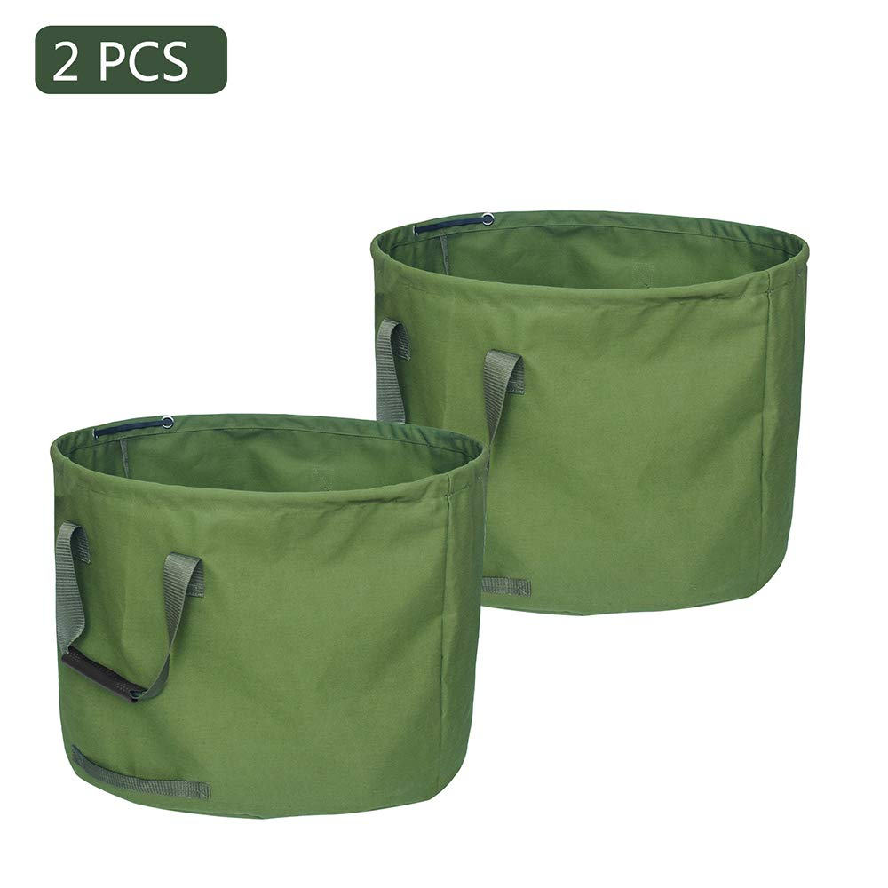 xianhu Outdoor Large-Capacity Canvas Garden Garbage Bag Deciduous Bag Garden Garbage Bag with Handrail Yard Waste Bag by xianhu