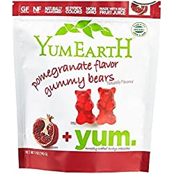 YumEarth Pomegranate Flavor Gummy Bears 5-Ounce Pack 1 Count