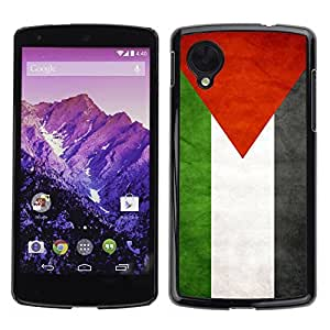 Shell-Star ( National Flag Series-Palestine ) Snap On Hard Protective Case For LG Google NEXUS 5 / E980