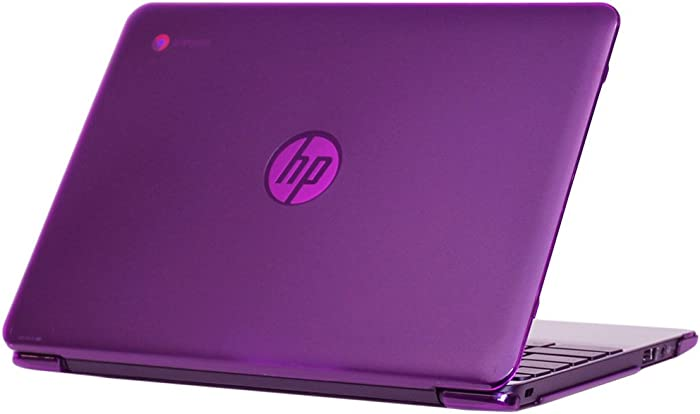 "mCover iPearl Hard Shell Case for 2016 11.6"" HP Chromebook 11 G5 / V011DX / V012NR laptops (NOT Compatible with Older HP Chromebook 11 G1 / G2 / G3 / G4 / G4 EE Models) (Purple)"