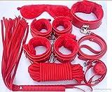 ZHS Sex Toy Leather Bondage Restraint 7 Pcs/Set Fetish Whip Rope Blindfold Wrist Cuffs Collar Mouth Gag Bondage Kit Q(1PC)