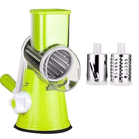 Rallador de Queso Manual Rallador Giratorio de Acero Inoxidable Rotatoria Trituradora