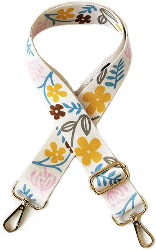 Accesorios Para Bolsos, Tirantes Anchos, Flores Florales Con Tirantes De Color De Contraste De Estilo Nacional, Tirantes Ajustables Para Tirantes Largos De Mujer-Color 4