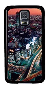 Samsung Galaxy S5 Case,Samsung Galaxy S5 Cases - Sunset Cityscapes Custom Polycarbonate Hard Case For Samsung Galaxy S5 - Black