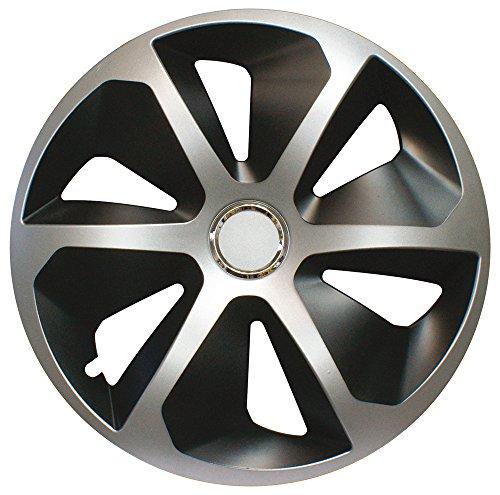 CORA 41945 4 Universal Aluminio Look ROCO Mix Tapacubos, 15, Juego de 4: Amazon.es: Coche y moto
