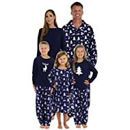 SleepytimePjs Family Matching Winter Deer Pajamas PJs Sets for The Family