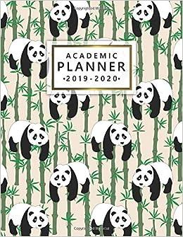 Amazon.com: Academic Planner 2019-2020: Nifty Panda Bamboo ...