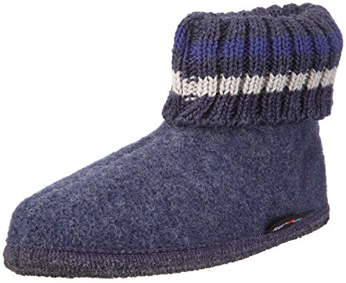 Haflinger Classic Boys Warm Wool Indoor House Slipper Boots (Toddler/Little Kid) (US Size 8 - Euro Size 24 - 5.75