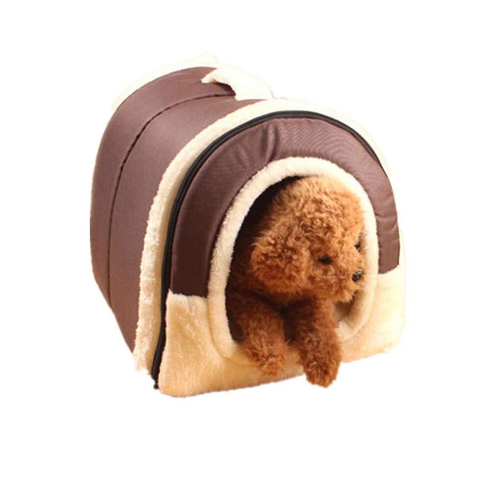Portable Pet gabbia BulzEU morbido caldo nido cane gatto letto pieghevole Letto cane coniglio Pet nido Grotta casa letto con materasso cuscino rimovibile