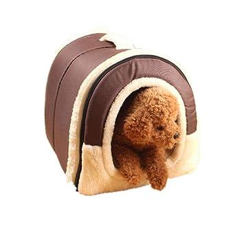 GFEU 2 en 1 Cama de Perro, Plegable, cálida, para Interior y Interior
