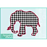 "Alabama Inspired HOUNDSTOOTH ELEPHANT 4"" Vinyl Decal Car Truck Sticker"