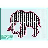 "Alabama Inspired HOUNDSTOOTH ELEPHANT 4"" Vinyl Decal Car Truck Sticker"