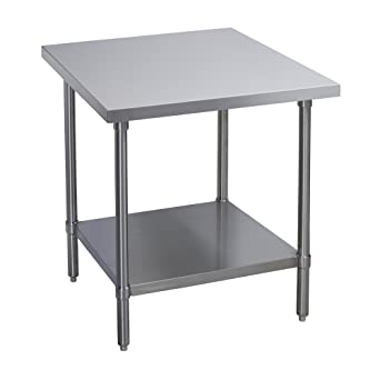 Amazoncom Elkay Professional Series NSF Stainless Steel Table With - 4 foot stainless steel table
