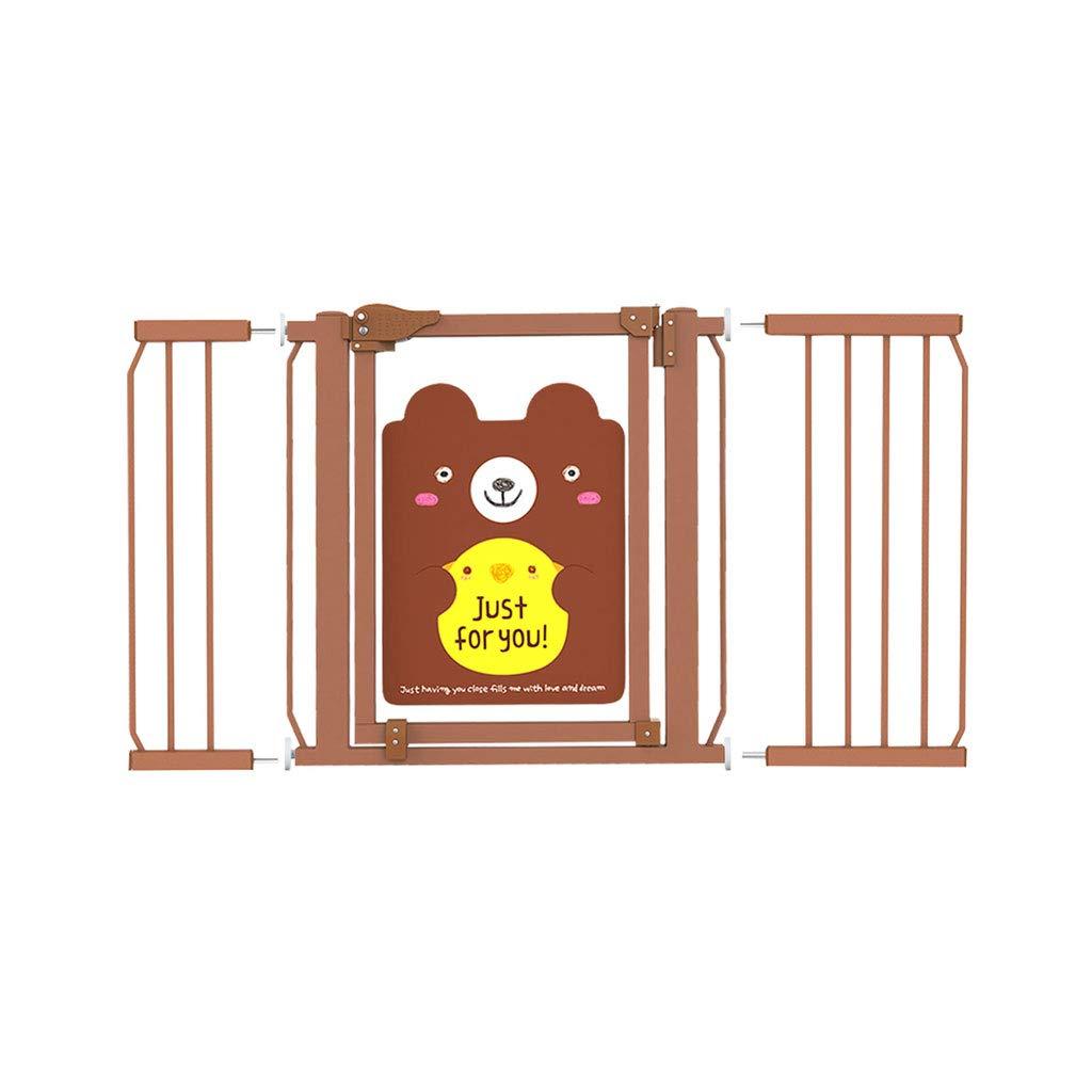 Safety Gate アクセサリー HUYP B07L6CN169 子供用 階段 HUYP 手すり ペット バルコニーフェンス ブラウン かわいい ホーム キッチン アクセサリー 123-132cm 123-132cm B07L6CN169, 尼崎市:ed7fffb9 --- bennynews.com