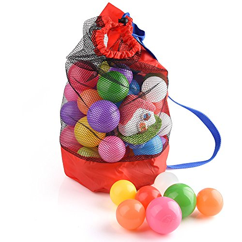 Kuuqa 2 Stk Spielzeug Taschen für Strand Netztasche Sand Strand Tasche Sandspielzeug Aufbewahrungstasche für Kinder (Spielzeug Nicht Inbegriffen)