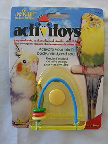 (Ship from USA) ACTIVITOYS - LEAP FROG TOY FOR BIRDS by JW Pet Company - INSIGHT products .ITEM-NO/EGB41S-1GFT2579