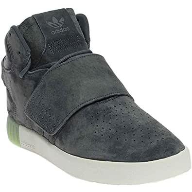 adidas Women's Tubular Invader Strap Shoes Onix/Onix 7
