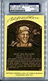 BILLY WILLIAMS Signed Yellow HOF Plaque Postcard PSA/DNA Slabbed Chicago Cubs Oakland Athletics 1987 Hall of Fame Member
