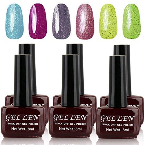 UV Gel Nail Polish Set - Gellen New Arrivial Pack of 6 Color