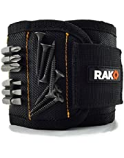 RAK Magnetic Wristband with Strong Magnets for Holding Screws, Nails, Drill Bits - Best Unique Tool Gift for Men, DIY Handyman, Father/Dad, Husband, Boyfriend, Him, Women (Black)