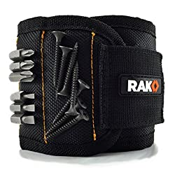 The RAK Magnetic Wristband is a must have tool for both the professional and the average person. It's perfect for home improvement, construction, carpentry, auto repair, and many other DIY projects. It's also great for fixing ceiling fans, recessed l...