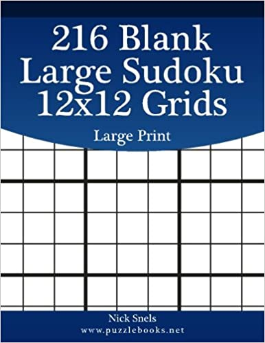 photograph relating to Printable Sudoku Grids titled 216 Blank Weighty Sudoku 12x12 Grids Significant Print (Blank Sudoku
