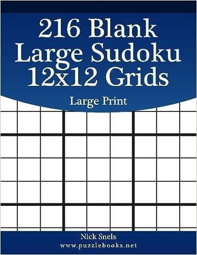 216 blank large sudoku 12x12 grids large print blank sudoku grids