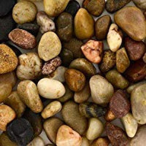 Greenbrier Bag of Decorative River Pebbles/Accent Stones, 32 oz (Soil Decorative Cover)