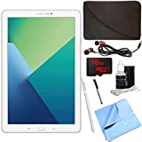 Samsung Galaxy Tab A 10.1 Tablet PC White w/ S Pen 16GB Bundle includes Tablet, 16GB MicroSD Card, Microfiber Cloth, Cleaning Kit, Stylus Pen with Clip, Protective Neoprene Sleeve and Metal Ear Buds