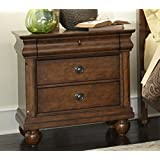 "Liberty Furniture 589-BR61 Traditions Night Stand, 28"" x 17"" x 28"", Rustic Cherry"